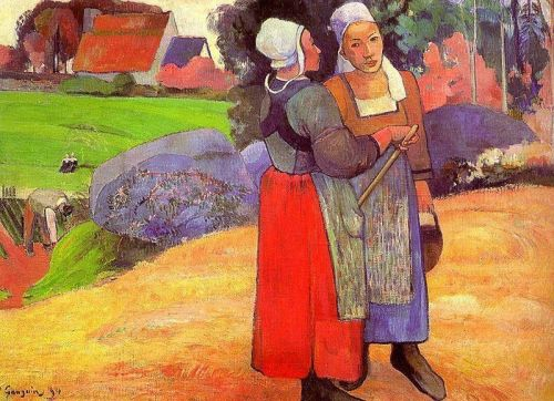 Two Breton Peasants on the Road, 1894 by Paul Gauguin