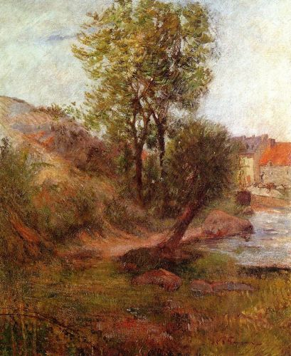 Willow by the Aven by Paul Gauguin
