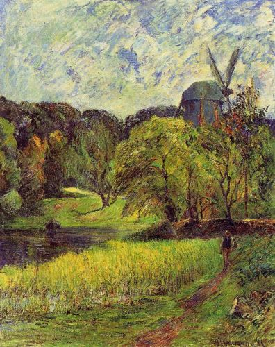 Windmil, Ostervold Park, 1885 by Paul Gauguin