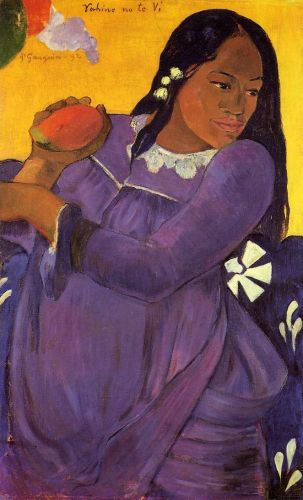 Woman with a Mango, 1892 by Paul Gauguin