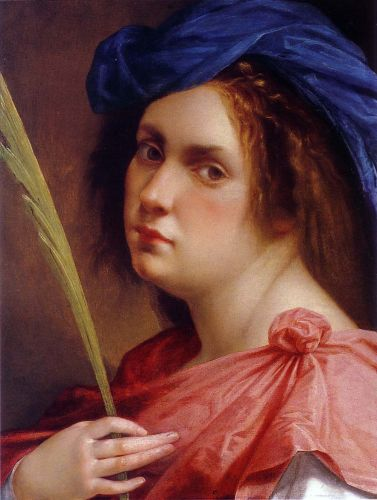 Self-Portrait as a Female Martyr by Artemisia Gentileschi