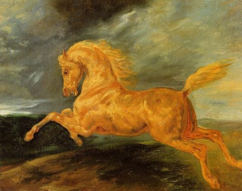 A Horse Frightened by Lightening by Théodore Géricault
