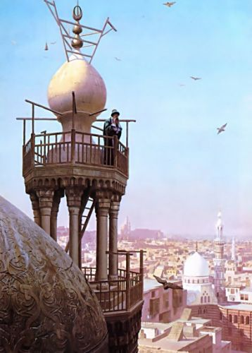 A Muezzin Calling from the Top of a Minaret by Jean-Léon Gérôme