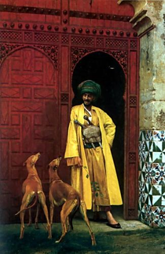 An Arab and his Dogs by Jean-Léon Gérôme
