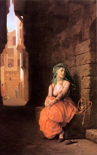 Arab Girl with Waterpipe by Jean-Léon Gérôme
