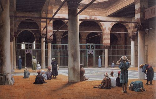 Interior of a Mosque by Jean-Léon Gérôme