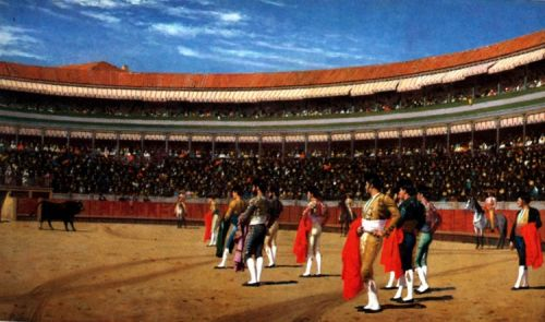 Plaza de Toros, The Entry of the Bull by Jean-Léon Gérôme