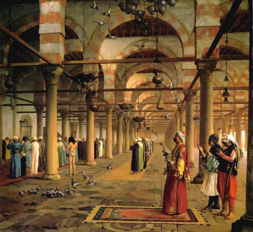 Public Prayer in the Mosque of Amr, Cairo by Jean-Léon Gérôme