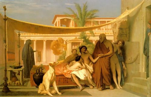 Socrates seeking Alcibiades in the House of Aspasia by Jean-Léon Gérôme