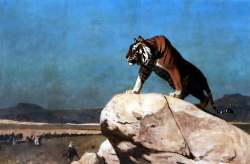Tiger on the Watch 1 by Jean-Léon Gérôme