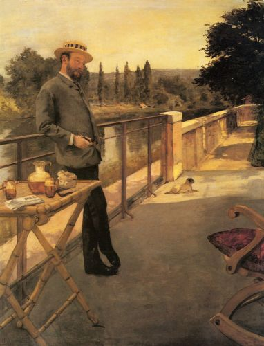 An Elegant Man on a Terrace by Henri Gervex
