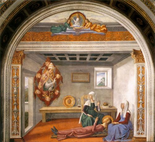 Announcement of Death to St Fina by Domenico Ghirlandaio