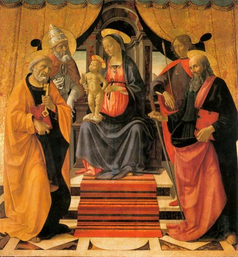 Madonna and Child Enthroned with Saints by Domenico Ghirlandaio