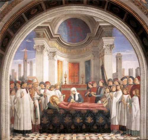 Obsequies of St Fina by Domenico Ghirlandaio