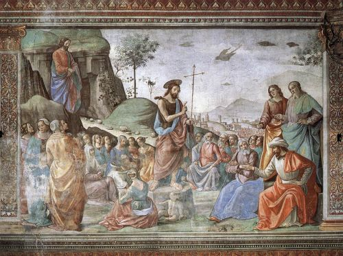 Preaching of St John the Baptist by Domenico Ghirlandaio