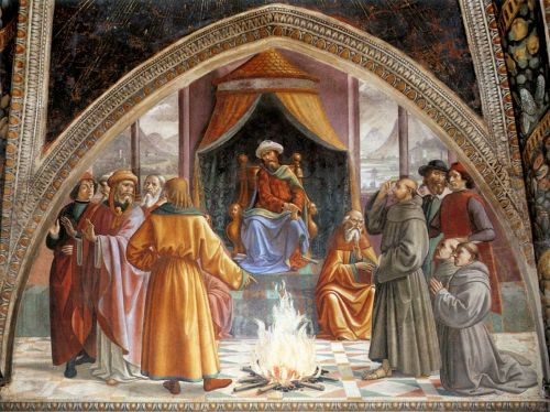 St Francis cycle - Test of Fire before the Sultan by Domenico Ghirlandaio