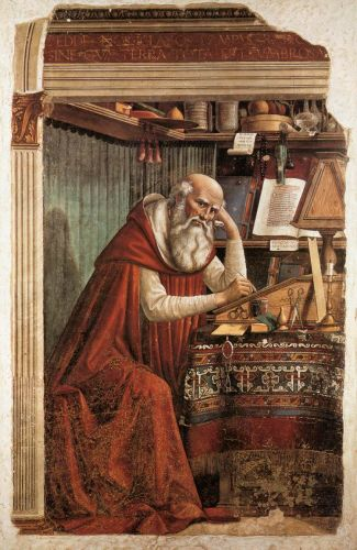 St Jerome in his Study by Domenico Ghirlandaio