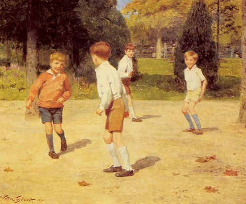 Boys Playing by Victor Gabriel Gilbert