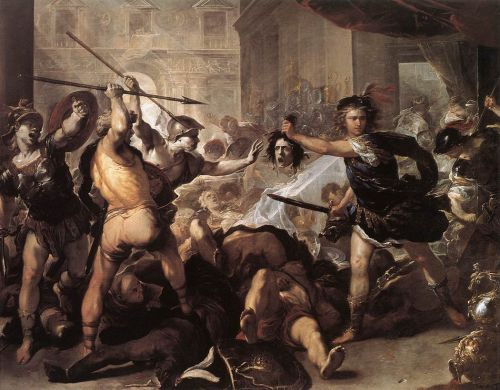 Perseus Fighting Phineus and his Companions by Luca Giordano