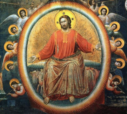 Last Judgement, detail of Jesus by Giotto