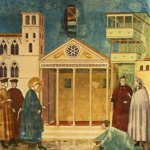 Legend of St Francis: 1. Homage of a Simple Man by Giotto