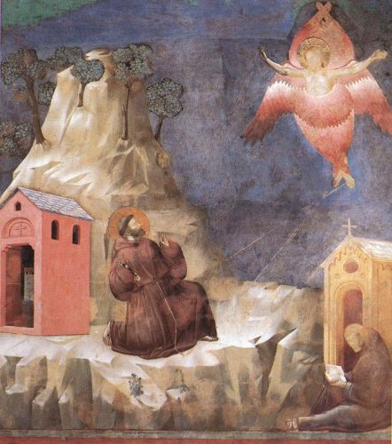 Legend of St Francis: 19. Stigmatization of St Francis by Giotto