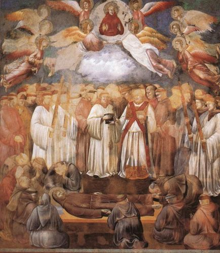 Legend of St Francis: 20. Death and Ascension of St Francis by Giotto