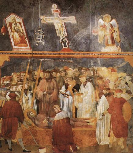 Legend of St Francis: 22. Verification of the Stigmata by Giotto