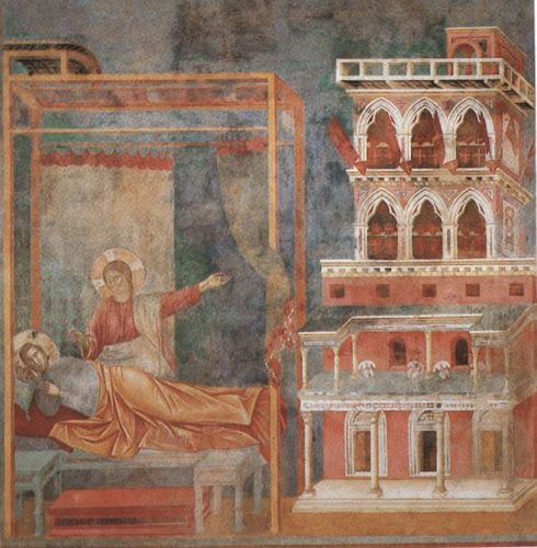 Legend of St Francis: 3. Dream of the Palace by Giotto