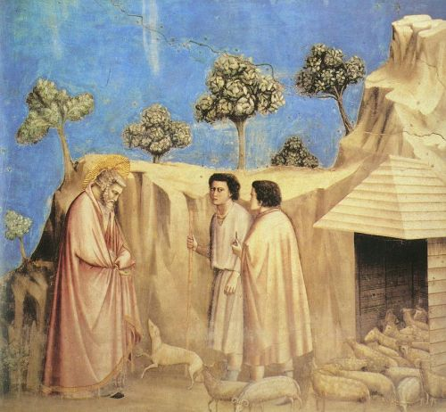 Scenes from the Life of Joachim: 2. Joachim among the Shepherds by Giotto