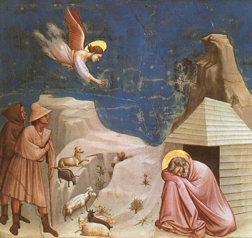 Scenes from the Life of Joachim: 5. Joachim's Dream by Giotto