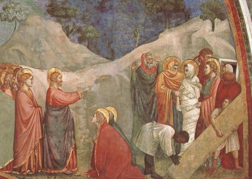 Scenes from the Life of Mary Magdalen - Raising of Lazarus by Giotto