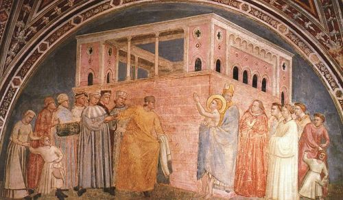 Scenes from the Life of Saint Francis - Renunciation of Word by Giotto