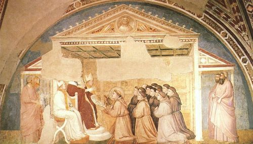Scenes from the Life of Saint Francis - Confirmation of the by Giotto