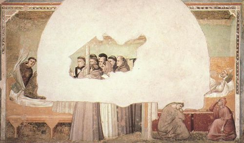 Scenes from the Life of Saint Francis - Vision of the Ascens by Giotto
