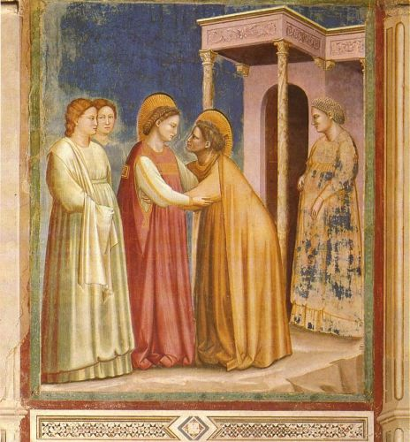 Scenes from the Life of the Virgin: 7. Visitation by Giotto
