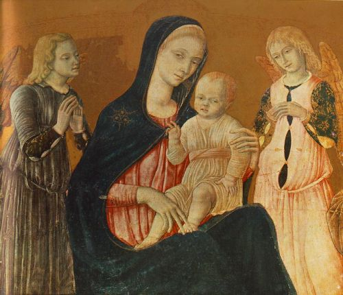Madonna with Child and Two Angels by Matteo di Giovanni