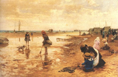 A day at the seaside by Alfred Glendening