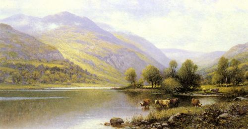 Near Capel Curig, North Wales by Alfred Glendening