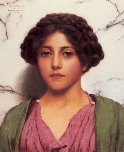 A Classical Beauty by John William Godward