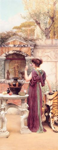 At the Garden Shrine, Pompeii by John William Godward