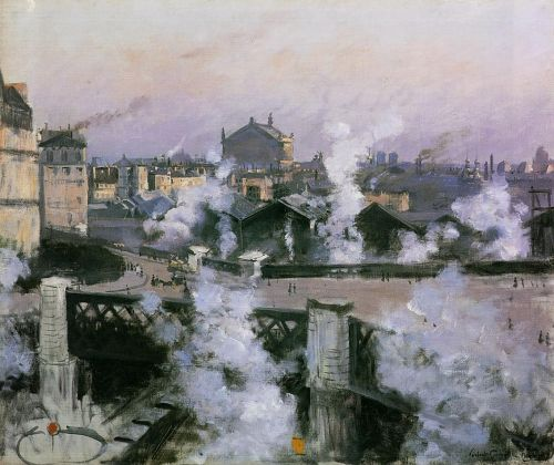 The Pont de l'Europe and Gare Saint-Lazare by Norbert Goeneutte