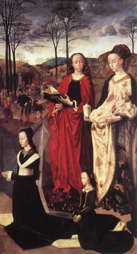 Sts Margaret and Mary Magdalene with Maria Portinari by Hugo van der Goes