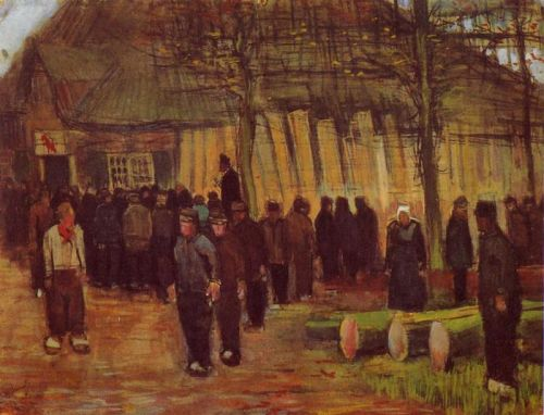 A Wood Auction by Vincent van Gogh
