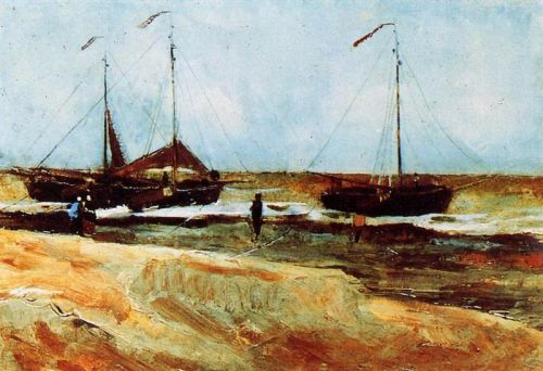 Beach at Scheveningen in Calm Weather by Vincent van Gogh