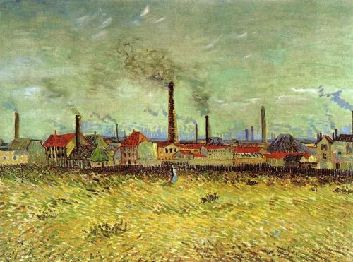 Factories at Asnieres Seen from the Quay de Clichy by Vincent van Gogh