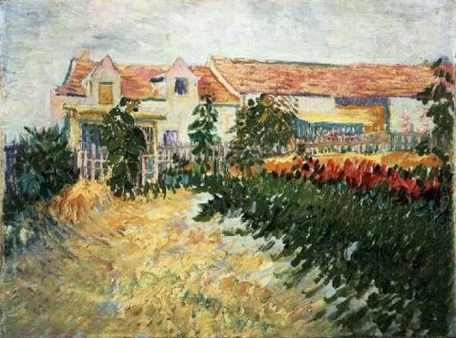 House with Sunflowers by Vincent van Gogh
