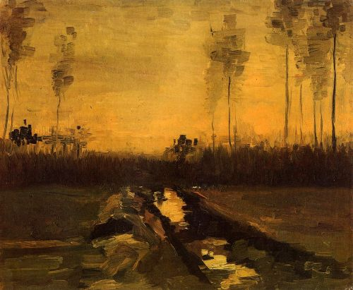 Landscape at Dusk by Vincent van Gogh