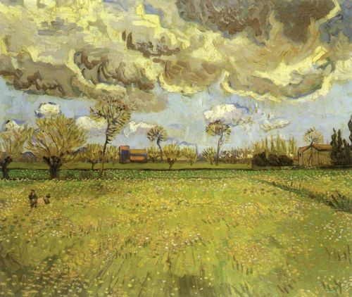 Landscape under Stormy Skies by Vincent van Gogh