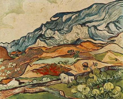 Les Alpilles, Mountainous Landscape near Saint-Remy by Vincent van Gogh